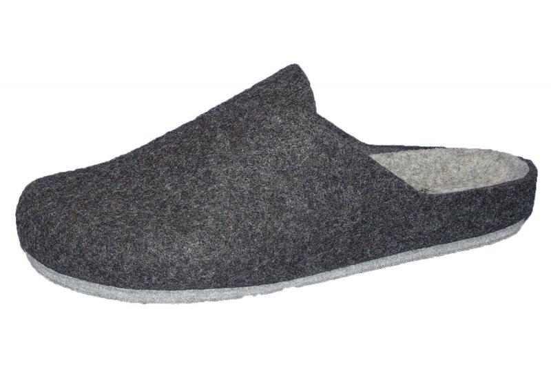 herren hausschuhe longo filz pantoffel schwarz filz decksohle neu ebay. Black Bedroom Furniture Sets. Home Design Ideas
