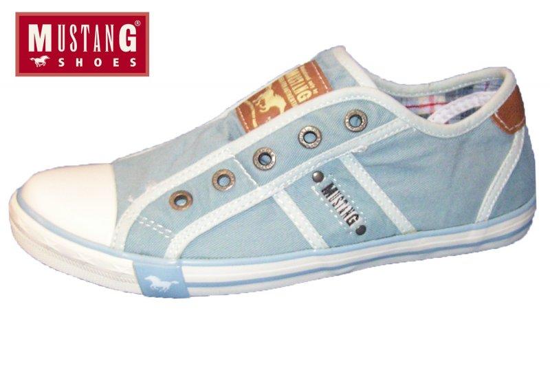 Hell 1099 Details Canvas Blau Pastell Damen Zu Sneaker 832 Mustang Halb Slipper 401 Schuhe thQxdCsr