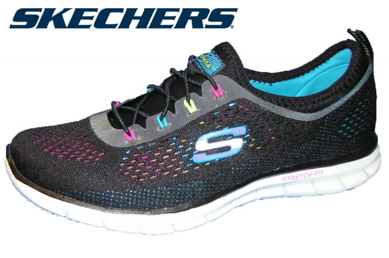skechers flex appeal floral bloom damen schuhe memory foam. Black Bedroom Furniture Sets. Home Design Ideas