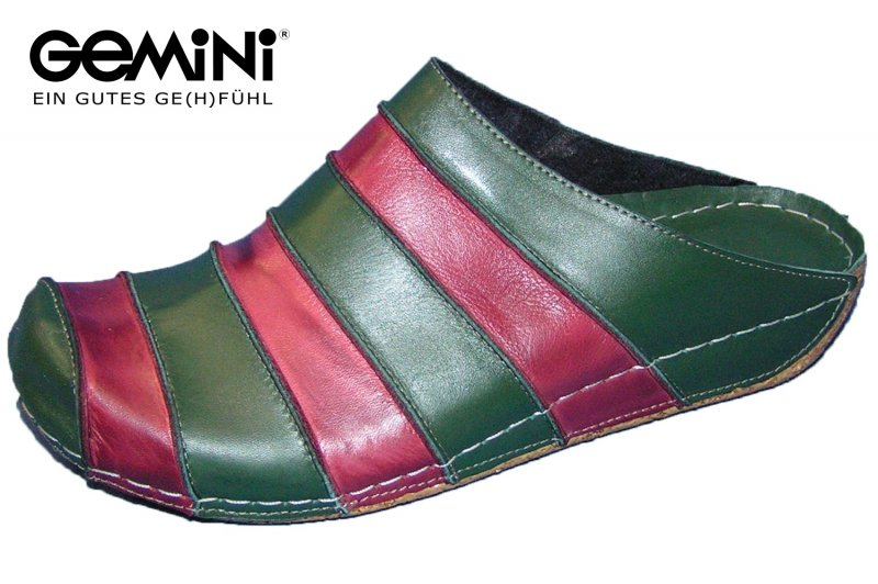 Gemini Pantolette Grün Rot