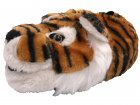 Hausschuhe Plüsch Tiger Braun