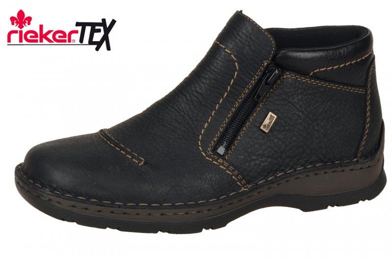 Details zu Rieker Herren Stiefelette Schwarz Tex Membran Winter Boots 05372 00 Schuhe NEU