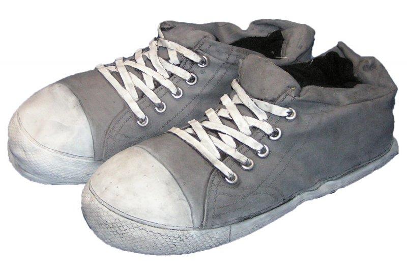 witzige hausschuhe riesen sneaker grau pantoffel lustig herren damen neu ebay. Black Bedroom Furniture Sets. Home Design Ideas