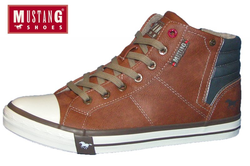 Mustang Herren Boots Braun Sneaker High