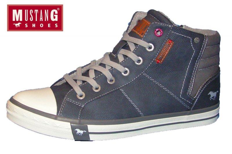 Mustang Herren Boots Blau Sneaker High