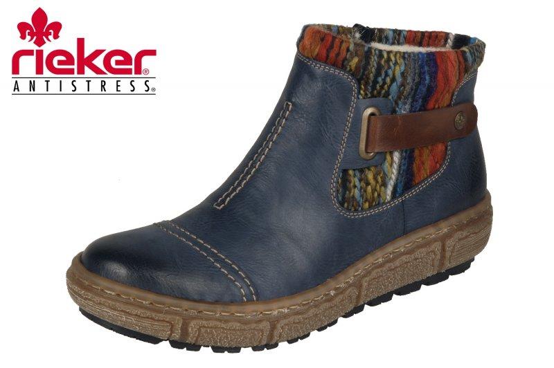 Rieker Damen Boots Blau