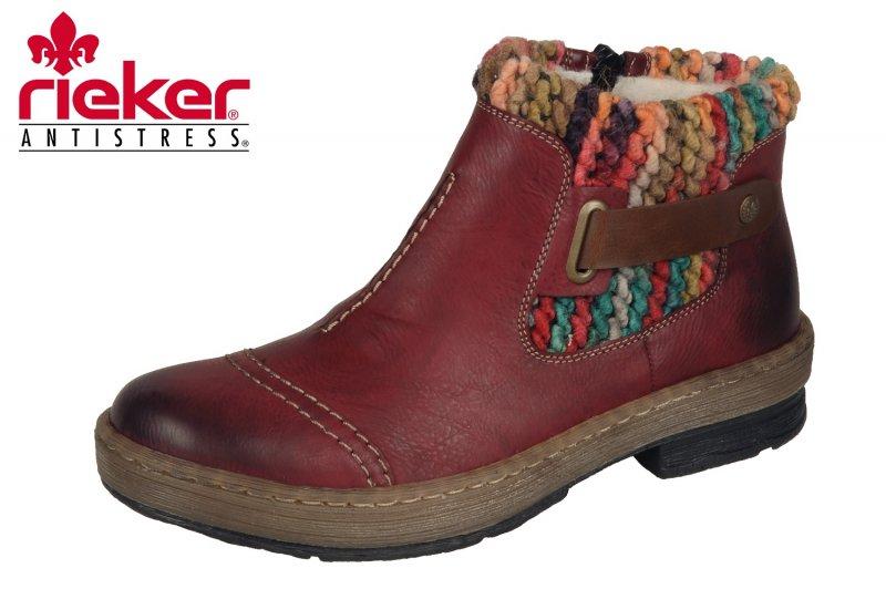 Rieker Damen Boots Rot