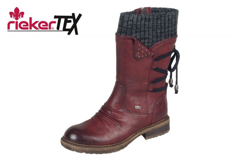 Rieker Damen Stiefel Rot Tex