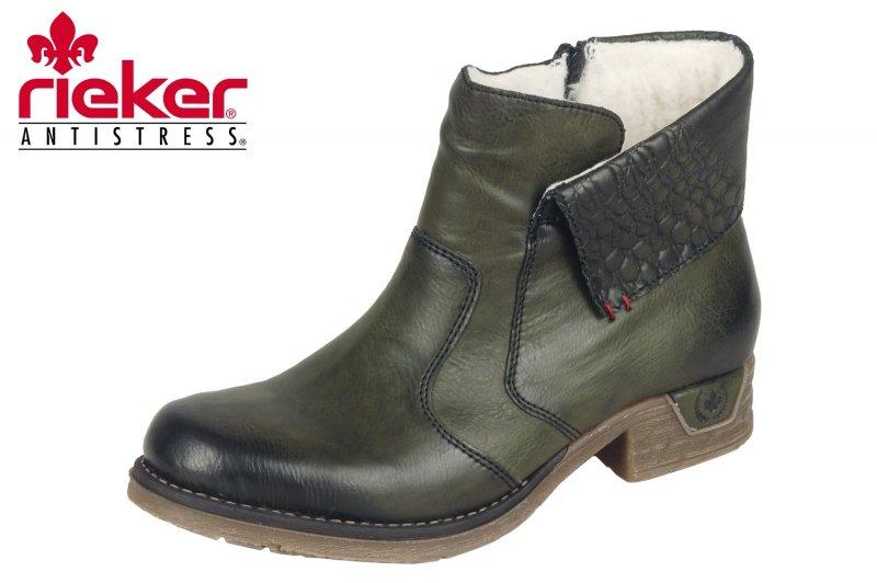 Rieker Damen Boots Grün