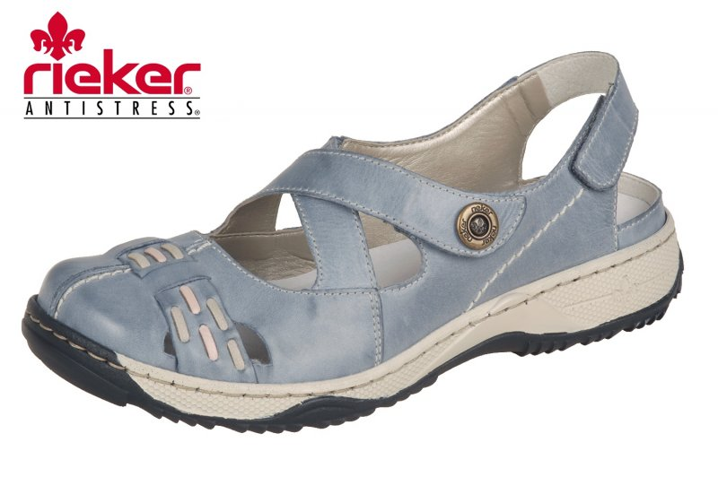 Rieker Trekkingsandale Damen Blau Schuhe Sandalen