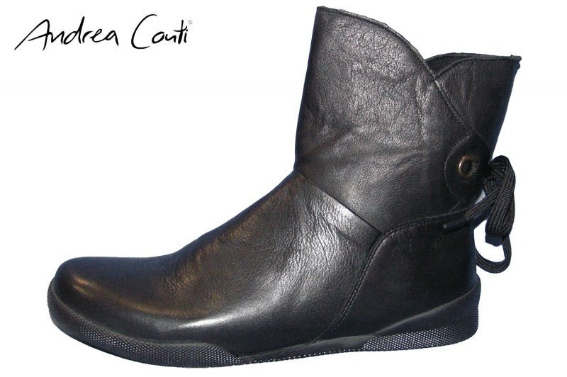 Details zu Andrea Conti Damen Stiefelette Boots Schwarz Echt Leder Stiefel 0342753 002 NEU
