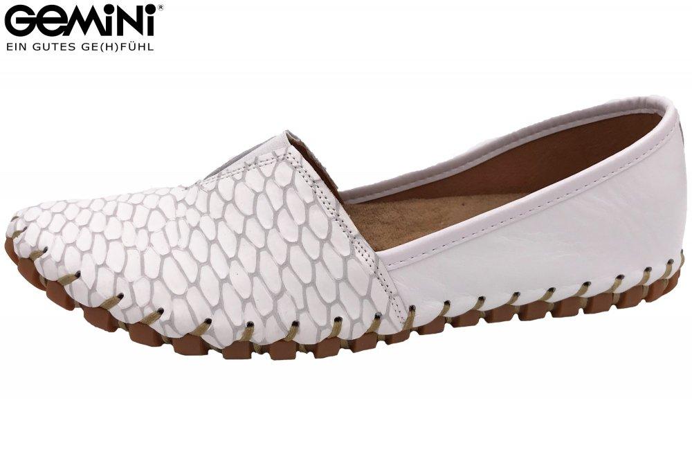 Sommer Neu Weiß Leder Damen Zu Gemini 001 Slipper Schuhe Details 31203 Ballerina wm08OvNn